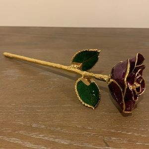 Accents - 24K gold dipped rose